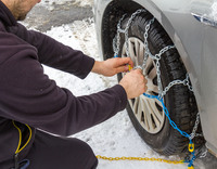 Huf informiert: Reifendruckkontrolle und Schneeketten