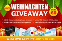 Digiartys offizielle große Weihnachtsgiveaway startet nach dem GOTD-Giveaway von WinX DVD Copy Pro