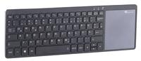 Premium-Funktastatur mit 2,4 GHz und XXL-Multi-Touchpad im Alugehäuse