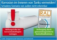 Korrosion im Inneren von Tanks vermeiden!