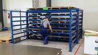 Optimale Lagerung von Blechen und Tafeln direkt an der Bearbeitungsmaschine