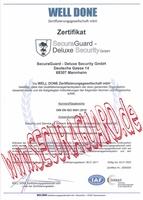 SecuraGuard-Deluxe Security GmbH freut sich über Zertifizierung