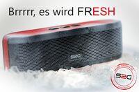 """S2G """"FRESH"""" - Der neue Stereo- Bluetooth-Lautsprecher von SOUND2GO mit dem """"fetten Plus+"""""""