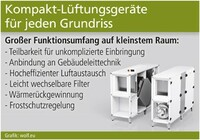 Kompakt-Lüftungsgeräte für jeden Grundriss