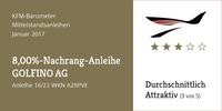 "KFM-Mittelstandsanleihen-Barometer - Die ""8,00%-GOLFINO-Nachrang-Anleihe"""
