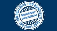 Kostenfreie Hilfestellung bei  ISO 9001:2015 und ISO 14001:2015