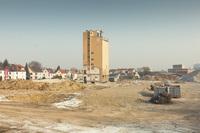Sprengung des Siloturms auf dem ehemaligen Baywa-Gelände in Ludwigsburg