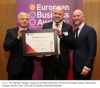 """Neumüller ist """"National Champion"""" beim European Business Award 2016/17"""