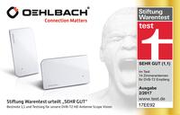 """Stiftung Warentest urteilt """"sehr gut"""": Bestnote 1,1 und Testsieg für DVB-T2 HD Antenne Scope Vision von Oehlbach"""