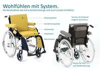 """Komfortbezug """"Extra"""": Standardrollstühle individuell polstern"""