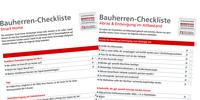 Ratgeberportal veröffentlicht weitere kostenlose Hausbau-Checklisten für Bauherren