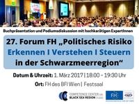 """Podiumsdiskussion """"Politisches Risiko Erkennen I Verstehen I Steuern in der Schwarzmeerregion"""""""
