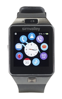 simvalley MOBILE Handy-Uhr/Smartwatch mit Bluetooth 4.0