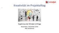 Mindjet-Umfrage: Kreativität hat im Projektalltag nur wenig Platz