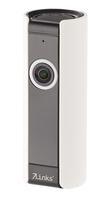 IP-Panorama-Überwachungskamera mit 180° Bildwinkel, Nachtsicht und microSD