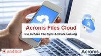 united hoster GmbH führt Acronis Files Cloud ein.