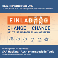 IBS Schreiber auf den DSAG-Technologietagen 2017