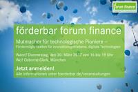 forum finance München: Mutmacher für technologische Pioniere