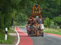 Forschungsprojekt des Verkehrsministeriums - Markierung von Fahrradschutzstreifen im Landkreis Grafschaft Bentheim mit Triflex