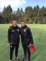 U 19 des DFB bereitet sich mit Fitnesstrainer Ulf Sobek auf EM-Qualifikation vor