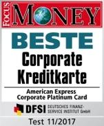 American Express Kreditkarten ausgezeichnet
