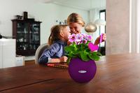 Ein besonderer Blumengruß zum Muttertag im granatroten LECHUZA-PURO