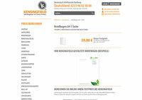 Bei Kensingfield: Briefbogen ab 39 Euro