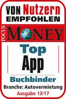 Buchbinder Schaden-App mit dem Prädikat Top App ausgezeichnet