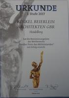 """KÖRKEL BEIERLEIN ARCHITEKTEN für """"Großer Preis des Mittelstandes 2017"""" nominiert"""