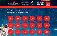 Advertronauts Schweiz - Flyer ab nur 39.95 Fr.