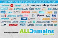 Über 200 Domainendungen zum Aktionspreis registrieren