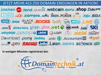 Über 250 Domain Endungen zum Angebotspreis registrieren