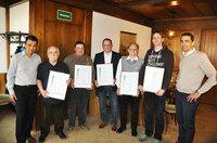 Ehrenzeichen für Mitglieder der Salamander Werkfeuerwehr