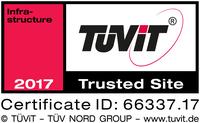 TÜViT-zertifizierte Sicherheit: