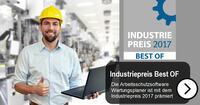 Wartungsplaner Arbeitsschutz-Software mit dem Industriepreis 2017 prämiert
