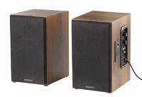 auvisio Bluetooth-Stereo-Lautsprecher-Set im Holz-Gehäuse