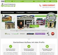 Unternehmen bietet Gartenhaus-Aufbauservice für alle Hersteller