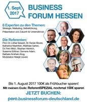 Acht Experten sprechen beim Business Forum Hessen über Zukunft für Unternehmen