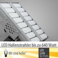 LED Hallenstrahler Serie bis 640 Watt geballter LED Power