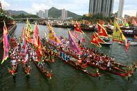 Hongkong feiert Dragon Boat Carnival XXL