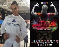 Bodybuilderin L. Goshko gewann bei IFBB in Spanien