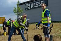 Das Werksgelände der KESSEL AG wird grüner