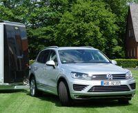 Pferdeanhänger-Zugfahrzeugtst VW Touareg auf Mit-Pferden-reisen.de