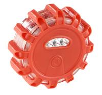 Lescars Rundum-Warnblinkleuchte mit roten & weißen LEDs, 5 Leuchtmodi, 4er-Set