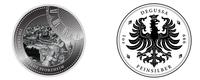 """Zum Jubiläum """"250 Jahre Goldstadt Pforzheim"""" eine Sonder-Medaille aus 999er Feinsilber auf Degussa Ideenplattform erstehen"""