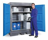 PE-Depots zur Lagerung von Kleingebinden, Fässern und IBC
