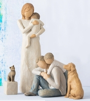 Willow Tree Familien jetzt mit Haustieren Hund & Katze.