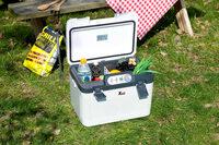 Thermoelektrische Kühl-/Wärmebox mit LED-Anzeige, 12/24 und 230 V und 19 Liter Volumen