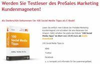 Neue Empfehlung von Nabenhauer Consulting nicht zu stoppen: Werden Sie Testleser des PreSales Marketing Kundenmagneten!