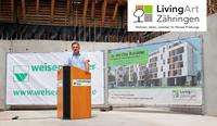 FZ-Objektgesellschaft feiert Grundsteinlegung für LivingArt in Freiburg-Zähringen